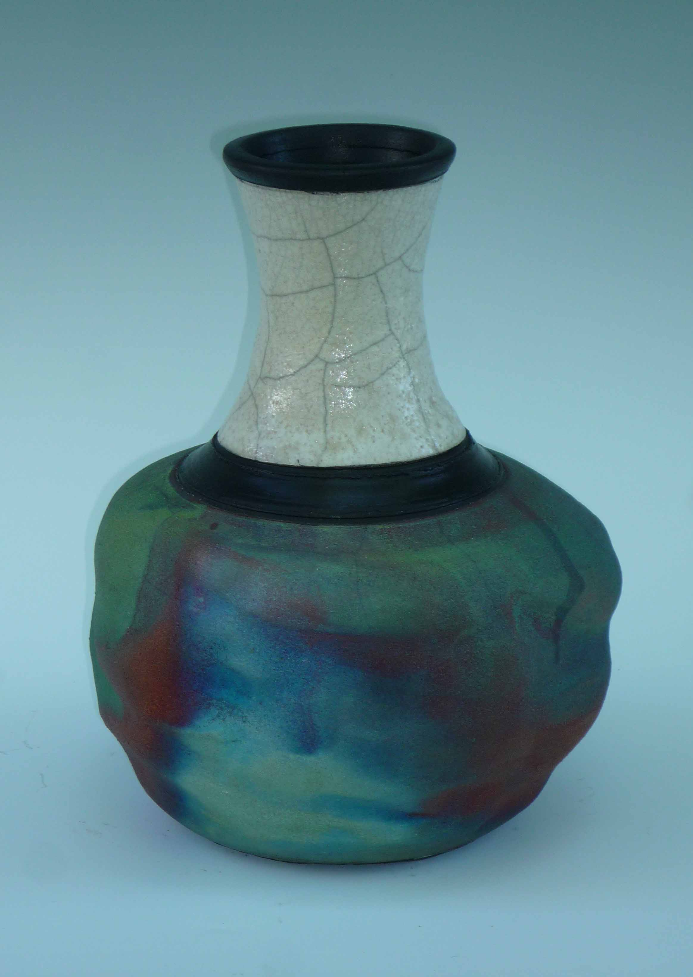 Bud Vase Large Rainbow Patina